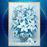 Lily Tulip Flower Faux Diamond Painting Cross Stitch DIY 5D Craft Wall Art Jian