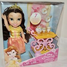 NEW Disney Princess BELLE Toddler Doll with 7-PC TEA SET - Chip, Mrs Potts, more