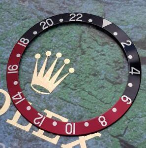GENUINE Rolex 1980s-2000s GMT Master II COKE Bezel Insert 16700 - 16760 & 16710