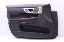 10 11 JAGUAR XF FRONT DRIVER SIDE DOOR PANEL ASSEMBLY MEMORY BLACK LEATHER OEM