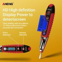 ANENG AC/DC 12-250V LCD Digital Display Voltage Test Pen Voltage Detector Tester