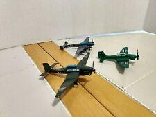 3 Vintage Diecast Airplanes Military Fighter Playart Hong Kong
