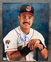 Carlos Baerga Signed Autographed 8x10 Photo Cleveland Indians