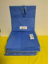lot 34 blue large 15 x 15 x 8 Gift Bags  with Ribbon Handles
