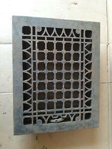 "Vintage Cast Iron Victorian Heating Grate Floor Register 13-3/4"" X 10-3/4"""