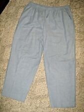 ALFRED DUNNER Sky Blue Elastic Stretch Waist 2 Pocket Casual Pants 22W