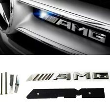 Mercedes AMG Silver Chrome Front Grill Grille Badge Emblem  A45 C43 C63 E63
