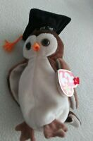 Ty Beanie Baby - 1998 Wise the Owl - RETIRED - RARE Lots of Errors