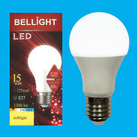 12x 15W (=125W) LED 3000K Warm White ES E27 Edison Screw Light Bulb Lamp