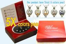 Wish Pearl One Box Heart Pendant & 5X pearls Gift set Necklace for Women Jewelry