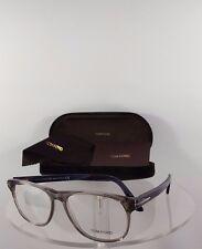 Brand New Authentic Tom Ford Eyeglasses TF FT 5362 020 Blue Grey Frame 5362
