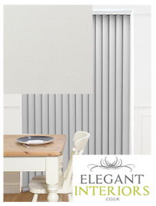 Henlow Astor Weaved White Dimout - Made To Measure Complete Vertical Blind