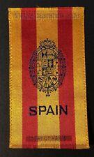Vintage c1910 Spain Coat of Arms Factory #30 2nd District Va Cigarette Silk