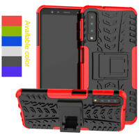 Rugged Hard Armor Shockproof Hybrid Stand Case Cover For Samsung Galaxy A7 2018