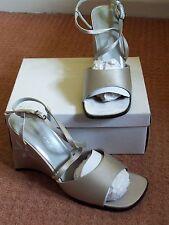 BRAND NEW, Ladies Heeled Satin Shoes, Grey, Wedding, Ball, Prom
