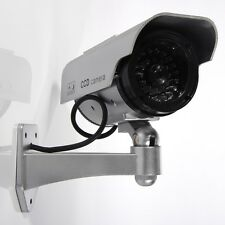 Dummy Fake solar power CCTV Security Camera Blinking w/LED Night Surveillance