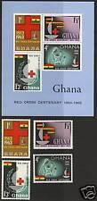 Ghana  1963  Scott #139-142a   Mint Lightly Hinged  Set