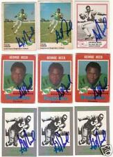 RARE GEORGE REED CFL Signed Card SASKATCHEWAN [*]