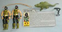 Lot 1987 GI Joe Cobra Reptile Trainer Croc Master v1 Figures File Card Accessory