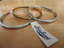 Lucky Brand Two-Tone Wheat Design Bangle Bracelet Set MSRP $45