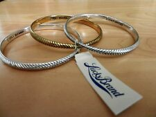 Lucky Brand Two-Tone Wheat Design Bangle Bracelet Set MSRP $45