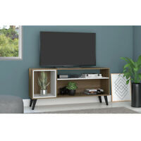 """OKU 55"""" TV Stand Cabinet Entertainment Center Living Room Table Valnot"""