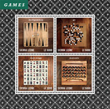 Sierra Leone- History of Chess Stamp - Sheet of 4 MNH