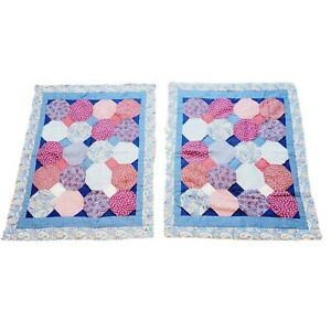 """2pc Hexagon Patches Style Colorful Paisley Accent Throw Pillow Cover 20"""" x 26"""""""