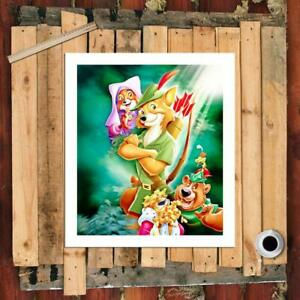 """8""""x10""""Disney HD Canvas prints Painting Home Decor Picture room  Wall art Poster"""