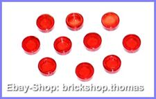 LEGO 10 X rundfliese Transparent Rouge - 98138-Tile Round trans-red-Neuf/New