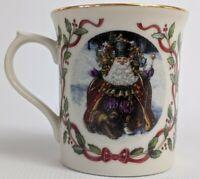 Lenox Magic of Christmas Bearing Wondrous Gifts Red Ribbon Holly White Mug Japan