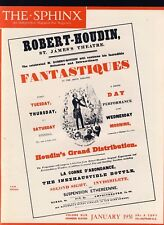 Robert-Houdin Fantastiques The Sphinx January 1951 Vintage Magicians' Magazine