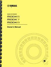 Yamaha MODX6 MODX7 MODX8 Synthesizer OWNER'S MANUAL and SUPPLEMENTARY MANUAL