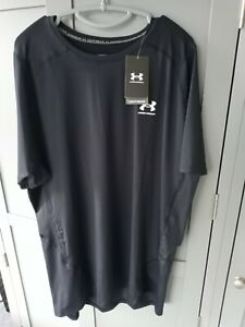 New With Tags Under Armour T-shirt Black/ White. 2XL