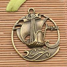 4Pcs  antiqued bronze tone sailing boat  design charms H0937