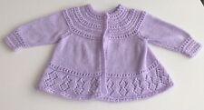 Hand Made Knit Crochet Baby  Sweater Yarn Toddler 2-3 Purple Beautiful