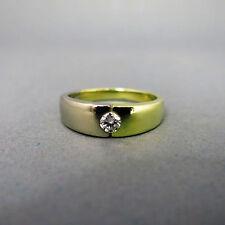 P1 Sehr gute Echte Diamanten-Ringe aus mehrfarbigem Gold mit Brilliantschliff