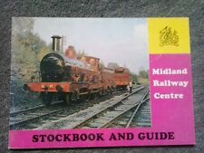 VINTAGE MIDLAND RAILWAY CENTRE STOCK BOOK & GUIDE OLD PHOTOS OF TRAINS 1982