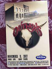 Outlaws ad/flyer Nyc Bb.Kings concert Nov 9 2017 the Marshall Tucker Band