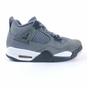 Nike Air Jordan 4 Retro GS Boys Basketball Shoes Cool Gray Leather 408452-007 5Y
