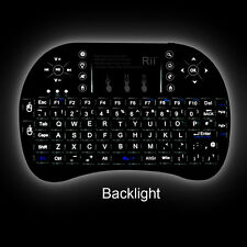 Rii i8+ RF Mini Mobile Wireless Keyboard With Touchpad Mouse Backlit LED for PC