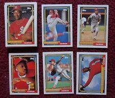 1992 Topps St Louis Cardinals Baseball Team Set (29 Cards) ~ Ozzie Smith ZEILE +