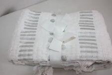"Afghan Throw Blanket  Basketweave Aman 50X70"" 100% Cotton $59.00 NEW NWT"