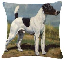 Kissenhülle Kissenbezug Motivkissen Hund Terrier Canvas-Stoff
