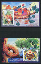 India 2017 MNH Children's Childrens Day Nest Parrots 2x 1v S/S Birds Stamps