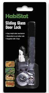 Habistat Viv Lock 90mm Vivarium sliding glass door lock two keys