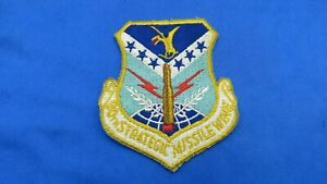 ORIGINAL USAF 90TH STRATEGIC MISSILE WING PATCH-EMBROIDERED