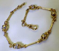 $20000 Victorian 14k gold&1.4ct Diamonds Memento Mori Skulls pocket watch chain