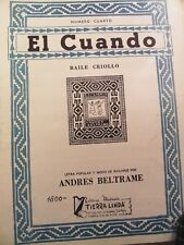 seltene Noten Gitarre el cuando baile criollo andres beltrame numero cuarto