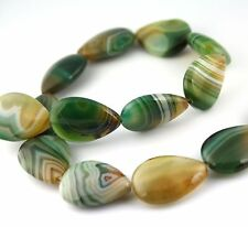 10 pcs - AAA grade Natural Malachite Agate Beads, Teardrop, 18 x 25 mm, gemstone